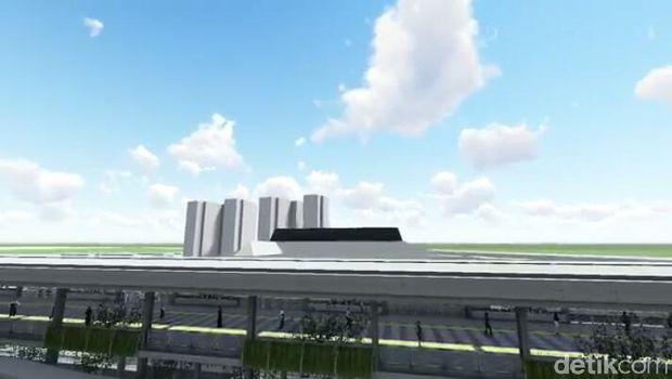 Desain sky bridge Tanah Abang