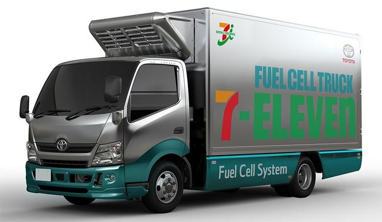 Truk fuel-cell Toyota untuk 7-Eleven. Foto: Toyota