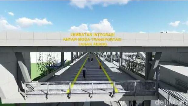 Ini Desain Sky Bridge Tanah Abang yang Mulai Dibangun Agustus