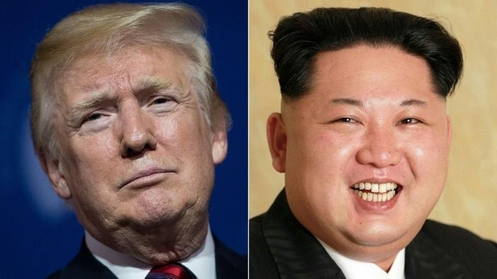 Donald Trump dan Kim Jong Un, keduanya kerap diliputi isu kesehatan yang kurang baik. Foto: BBC World