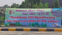 Ramai Spanduk Jalan Tol Pak Jokowi, Gerindra: Menyesatkan!