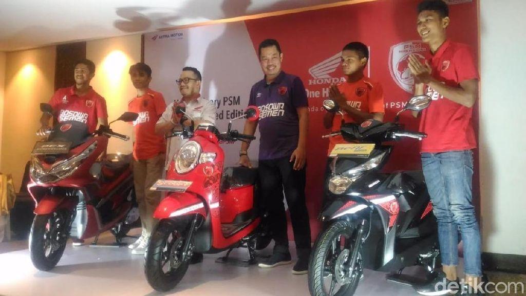 Honda Makassar Bikin Motor Berbaju PSM