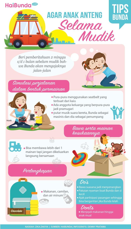 Tips Agar Anak Anteng dalam Perjalanan Mudik/ Foto: Tim Infografis HaiBunda