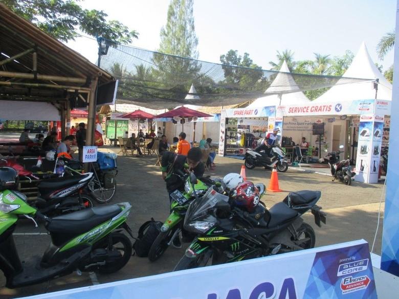 Pos Jaga Yamaha di program Mudik Wisata Asik Yamaha (Foto: dok. Yamaha)