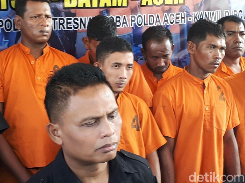 Dor! Bokong ABK Sindikat Sabu 99 Kg di Aceh Ditembak Polisi