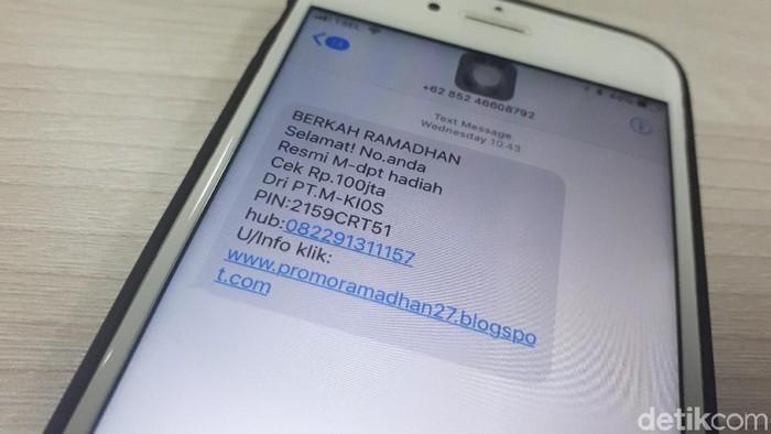 SMS Penipuan Jelang Lebaran