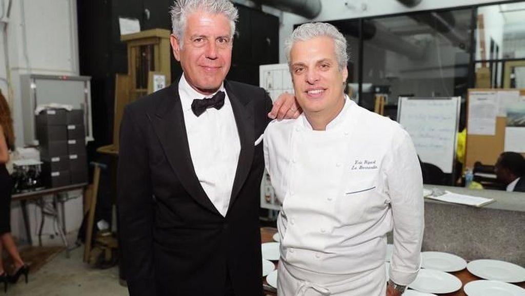 Ini Hari-hari Terakhir Chef Eric Ripert Bersama Anthony Bourdain