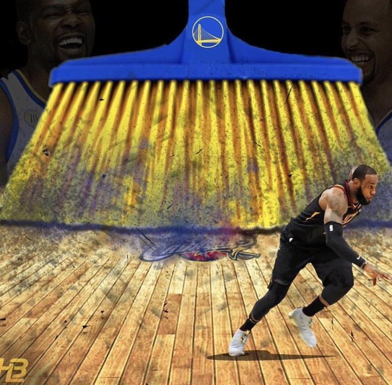 Golden State Warriors sukses sapu bersih setelah menang 4-0 atas Cleveland Cavaliers di final NBA 2018. Foto: Istimewa