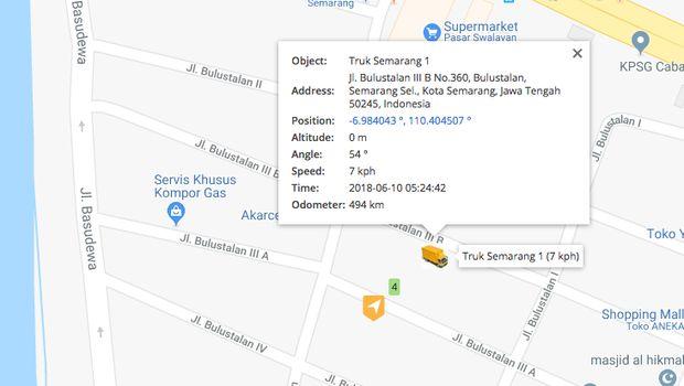 GPS Tracking posisi truk