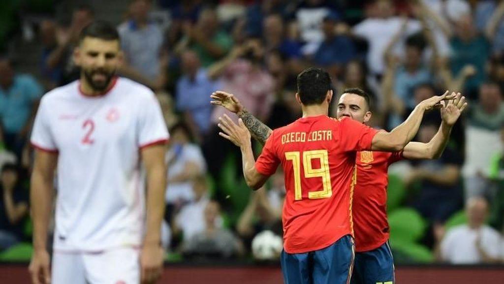Iago Aspas Menangkan Spanyol atas Tunisia