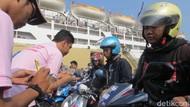 572 Motor Pemudik Diangkut Kapal Tiba di Semarang