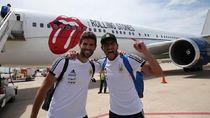 Pakai Pesawat The Rolling Stones, Timnas Argentina Tiba di Rusia