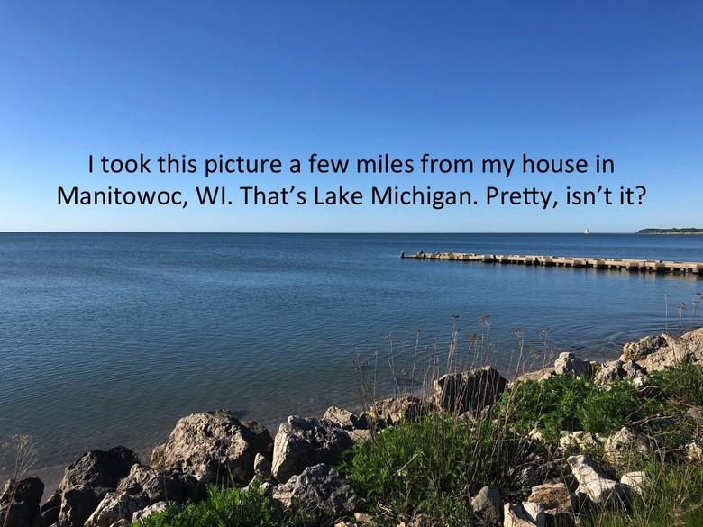 Musisi asal Amerika Serikat Greg Pagel mengambil sebuah foto penampakan Lake Michigan. Foto: Imgur/Greg Pagel