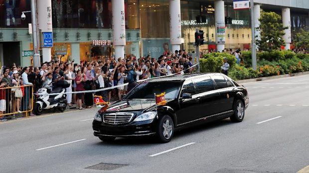 Kedatangan Kim Jong Un di Singapura.