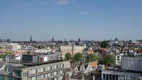 Panorama dari bagian rooftop kantornya (Afif Farhan/detikTravel)
