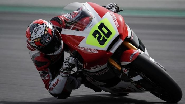 Dimas Ekky akan membalap di Moto2 dalam seri grand prix Catalunya (Foto: Dok: Astra Honda Motor)