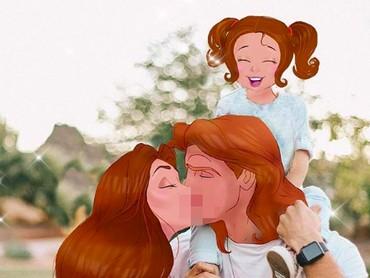 Kenalkan, ini keluarga Belle, Bun! Si kecil mirip bundanya ya? He-he-he. (Foto: Instagram/ @iguunii)