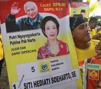 Poster Titiek Soeharto saat kampanye di Pemilu 2014