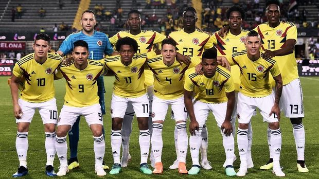 Timnas Kolombia lebih diunggulkan menghadapi timnas Jepang. (