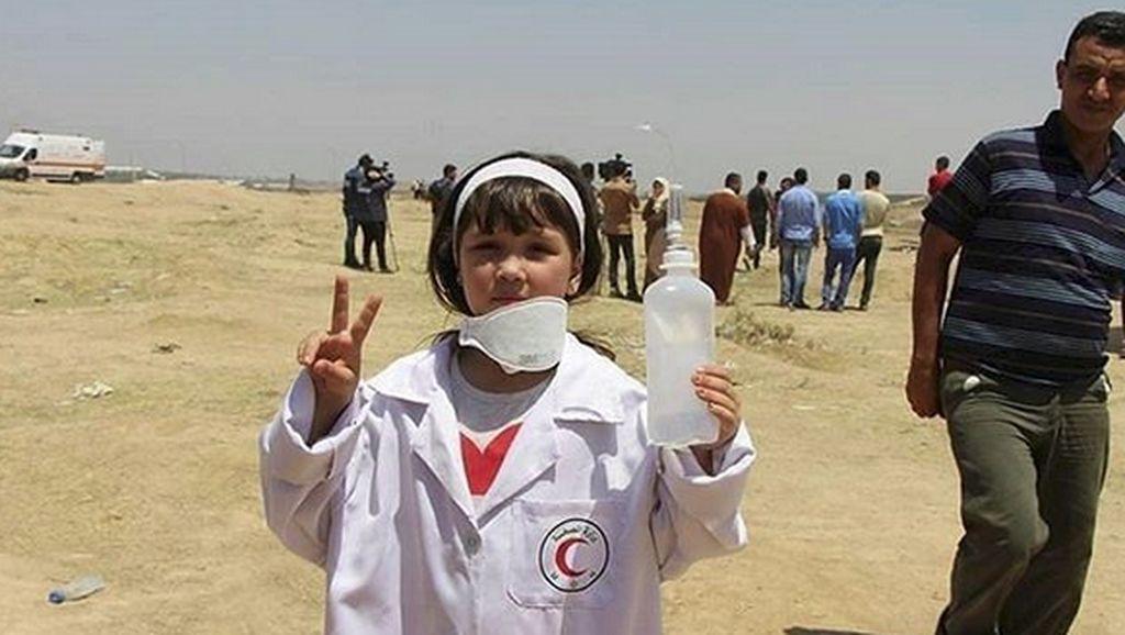 Foto: Perawat Cilik Palestina yang Termotivasi Jejak Razan al-Najjar