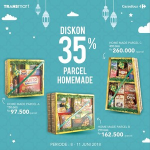 Diskon 35% Homemade Parcel di Transmart Carrefour