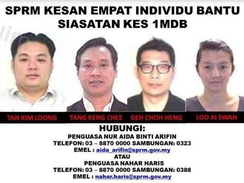 Empat orang yang sedang diburu Komisi Antikorupsi Malaysia terkait skandal 1MDB
