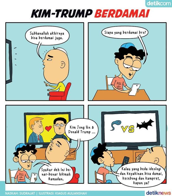 Kim Jong Un - Donald Trump Berdamai, Kapan Kecebong - Kampret