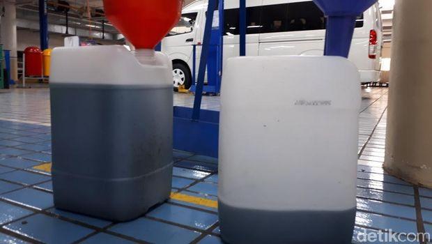 Bahan bakar yang tersedia di cekukan tangki, bisa 5 liter lebih!
