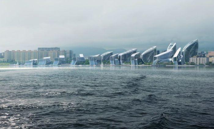 Arsitek Zaha Hadid baru saja memenangkan kompetisi masterplanning internasional untuk Novorossiysk, sebuah kota Rusia di pantai Laut Hitam dengan pelabuhan pelayaran terbesar di negara itu. Istimewa/Inhabitat.