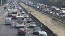 430.993 Kendaraan Tinggalkan Jakarta Via Tol di H-7 hingga H-2 Lebaran