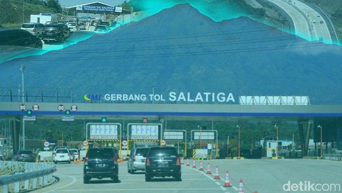Foto: Tol Salatiga siang hari (Zaki Alfarabi/detik)