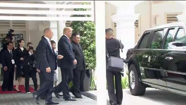 Usai Makan Siang, Trump Pamerkan The Beast ke Kim Jong-Un