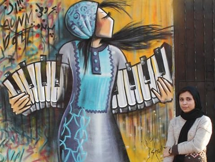 Seniman Shamsia Hassani dari Afghanistan