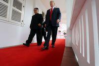 Pertemuan Trump dan Kim di Singapura.