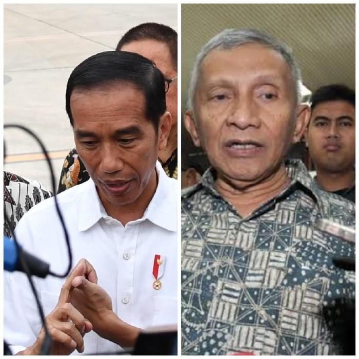 Foto ilustrasi: Jokowi dan Amien Rais (dokumentasi)