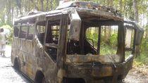 Bus Rombongan Ketoprak Terbakar di Rembang