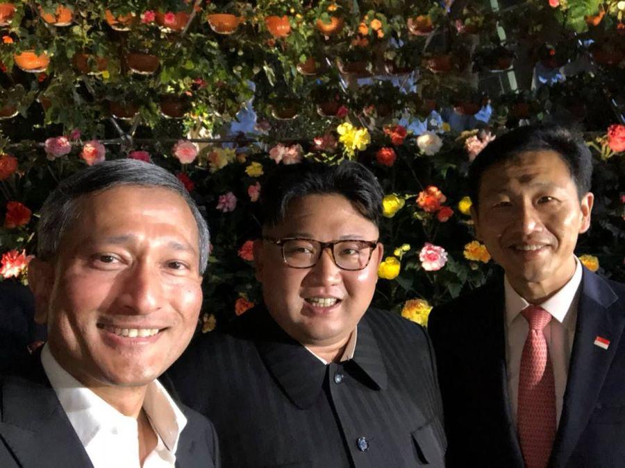 Sebelum bertemu dengan Donald Trump, Kim Jong Un singgah ke Gardens by The Bay, bersama Menteri Luar Negeri Singapura Vivian Balakrishnan(Reuters)