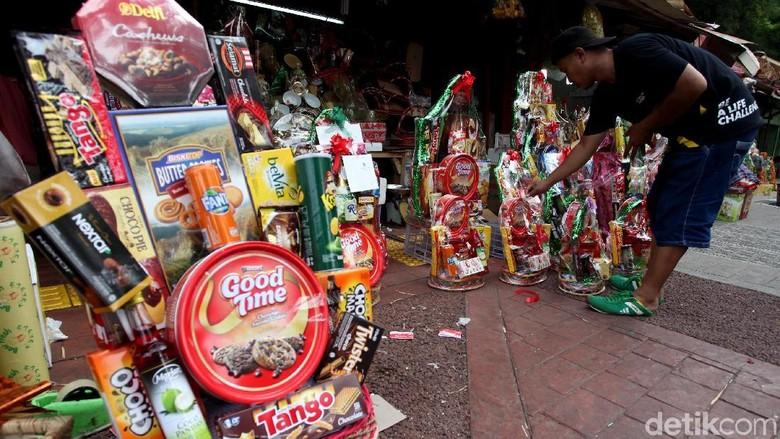 Pedagang Parsel di Barito Diserbu Pembeli