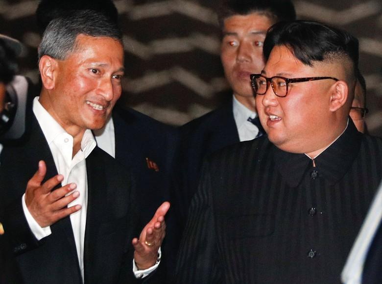 Media Korut Sebut Kim Jong Un Terkesan dengan Kebersihan Singapura