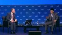 Di Israel, Yahya menjadi narasumber dalam forum yang diprakarsai American Jewish Committee (AJC) itu. Acara itu berlangsung pada Minggu, 10 Juni 2018. Direktur Internasional AJC bidang Hubungan Inter-agama Rabbi David Rosen menjadi moderator di forum yang dihadiri lebih dari 2.000 orang itu (Foto: Situs NU Online)