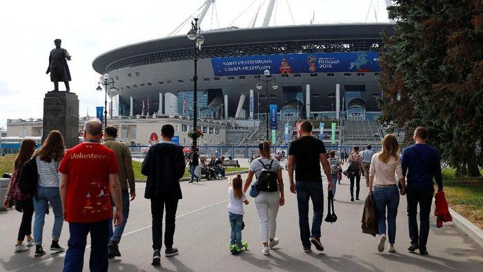 Ilustrasi Penonton Piala Dunia/Foto: Fabrizio Bensch/Reuters