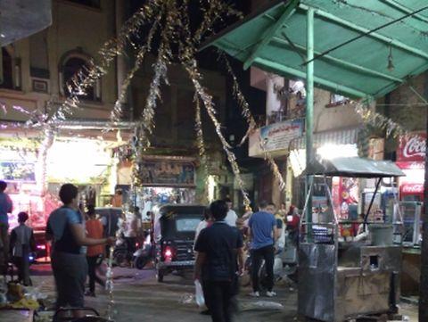 Dekorasi jalanan menyambut Ramadan.