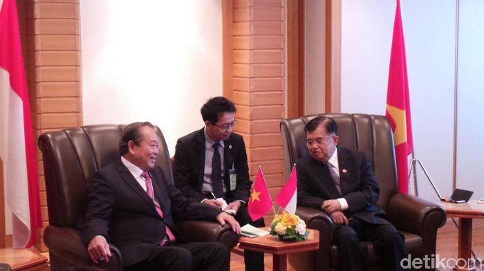 Foto: Wapres JK bertemu dengan Deputi PM Vietnam. (Niken Purnamasari/detikcom)