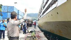 Kapolda Papua Lepas Ribuan Pemudik KM Ceremai