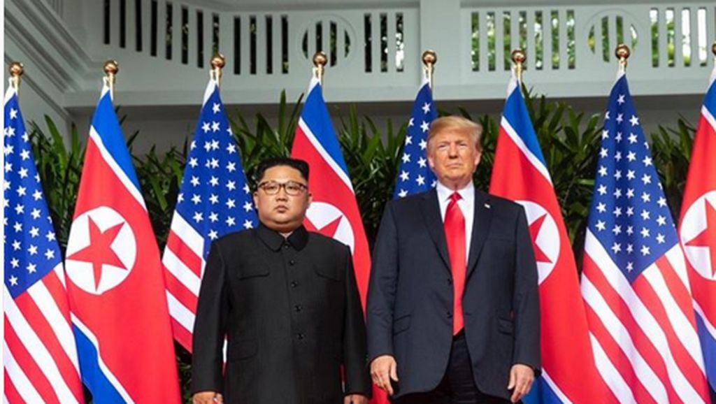 #TrumpKimSummit Bergema Ramaikan Pertemuan Trump-Kim Jong-Un