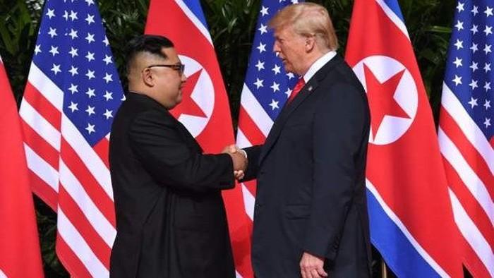 Pertemuan Kim Jong Un dan Donald Trump. Foto: BBC World