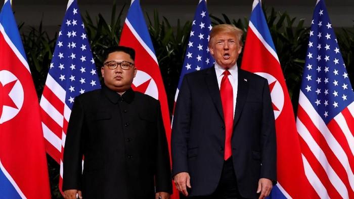 Pertemuan Kim Jong Un dan Donald Trump. Foto: Reuters