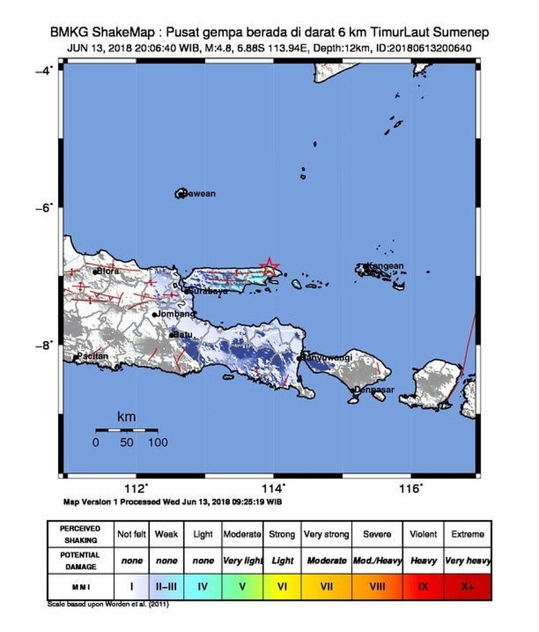 Gempa 4,8 SR Terjadi di Sumenep