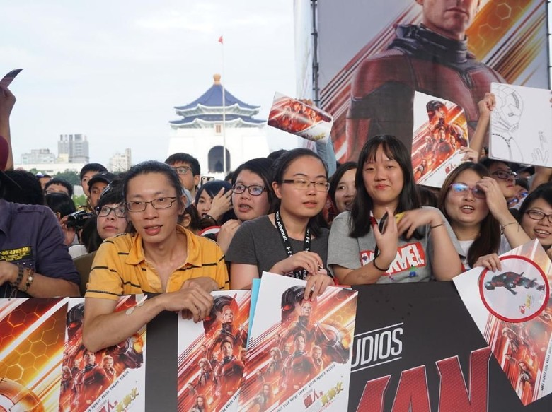 Sejumlah Penggemar Marvel Banjiri Red Carpet Ant-Man and The Wasp