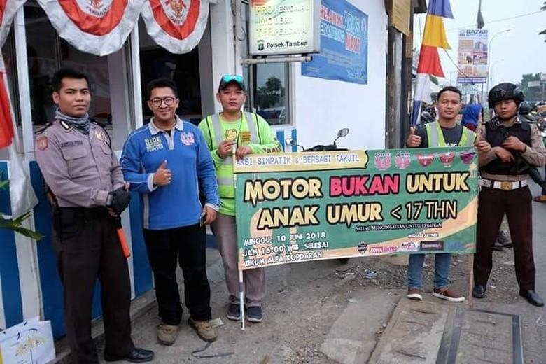 Kampanye motor bukan untuk anak di bawah umur, Foto: Dok. Nmax Riders Bekasi